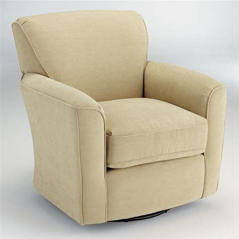 best armchair best home furnishings chairs swivel glide kaylee swivel barrel arm chair olinde s