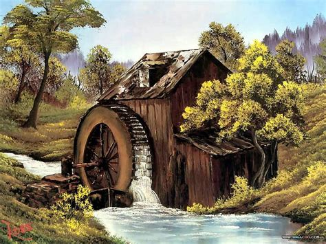 bob ross painting buildings the mill painting by bob ross