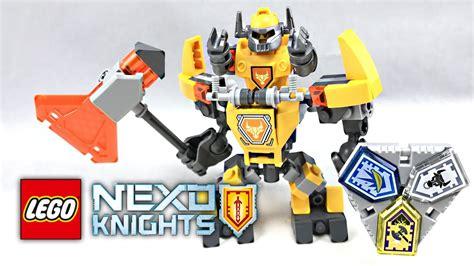 Lego 70365 Nexo Knights Battle Suit Axl lego nexo knights battle suit axl review 2017 set 70365