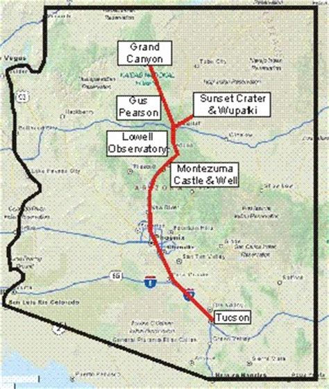 grand map arizona grand excursion