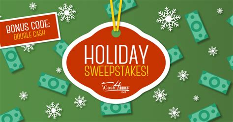 Holiday Cash Sweepstakes - giveaway the cash4books blog cash4books net