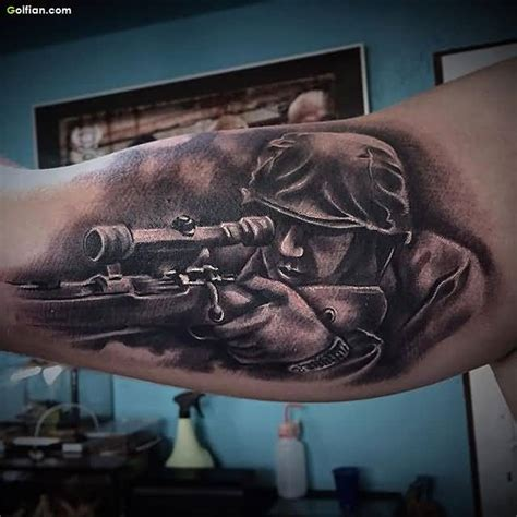 best tattoos designs ever 50 awesome army sniper design coolest army gun