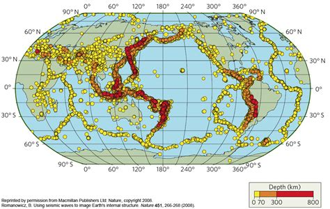 earthquake depth earthguide online classroom earthquakes and subduction