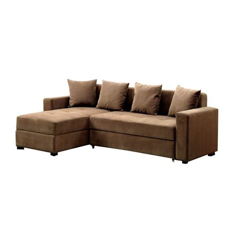 Convertible Sectional by Furniture Of America Prastic Convertible Sectional With