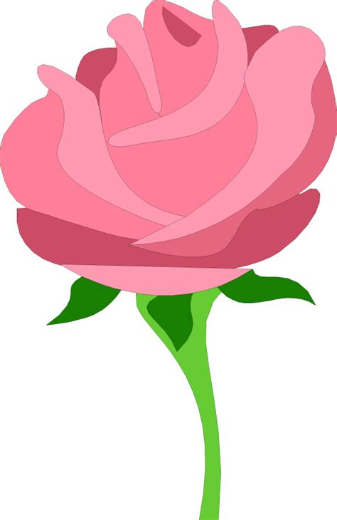 rosa clipart single pink clip free clipart images cliparting