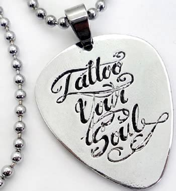 soul tattoo chords tattoo gitarre plektrum punk rock emo guitar pick kette