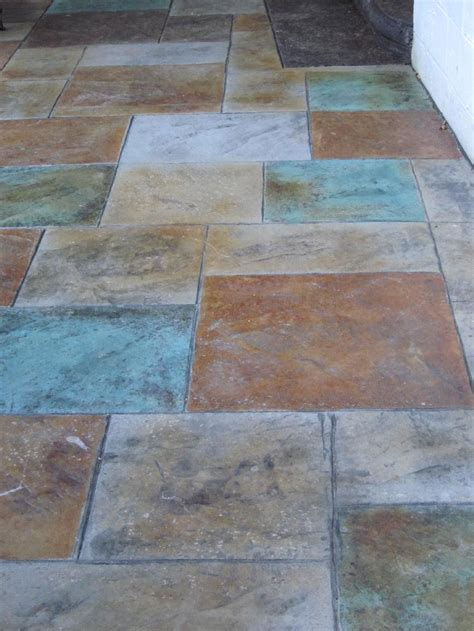 Coloured Flooring Company by Colored Sted Concrete Patio With Pit