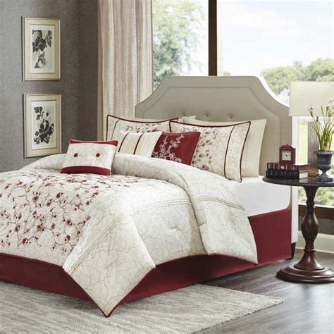 cherry blossom comforter sets madison park blossom 7 piece king comforter set in red