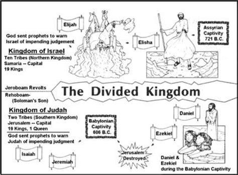 divided kingdom israel and judah bible visual aids and