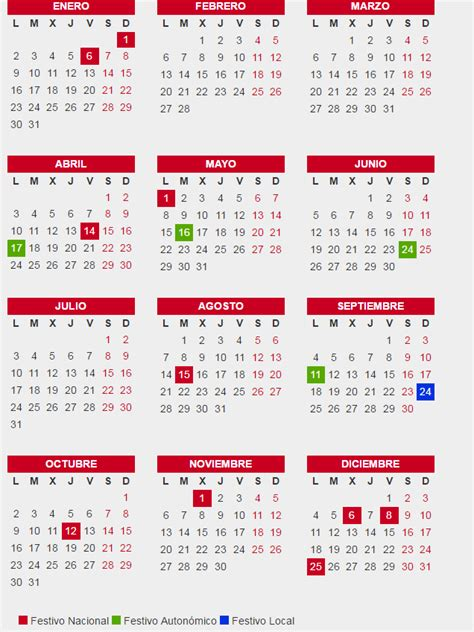 Calendario Laboral Barcelona 2017 Pdf Calendario Laboral De Barcelona 2017