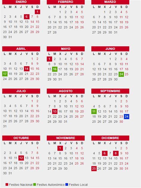 Calendario Festivos Barcelona 2017 Calendario Laboral De Barcelona 2017