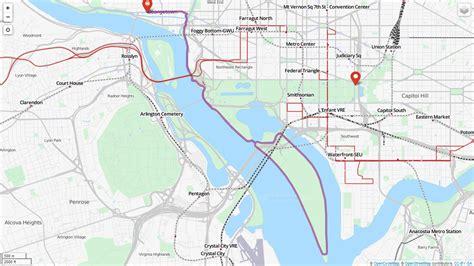 washington dc loop map detailed maps washington running club