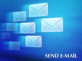 sending email slide backgrounds for presentation ppt