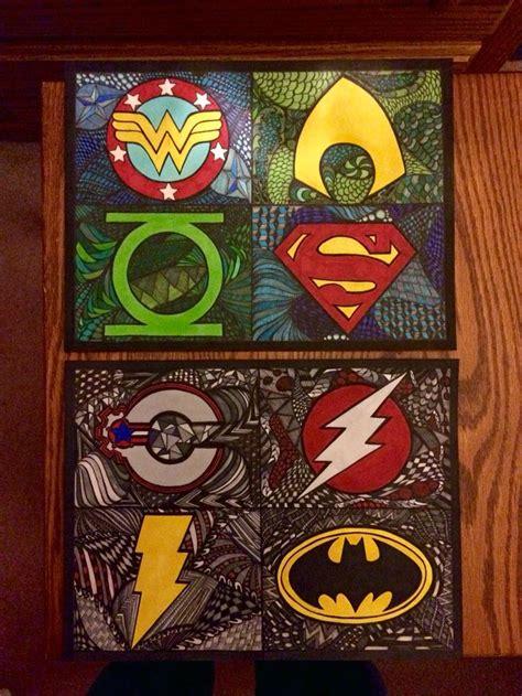 superhero zentangle  big project ive