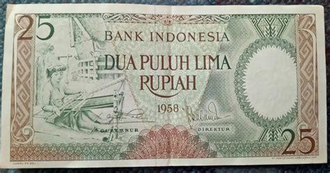 Uang Kuno Seri Pemandangan 25 Rupiah uang kuno 25 rupiah 1958 seri pekerja