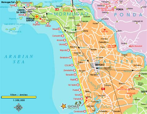 resort goa map south goa map goa and south goa goa