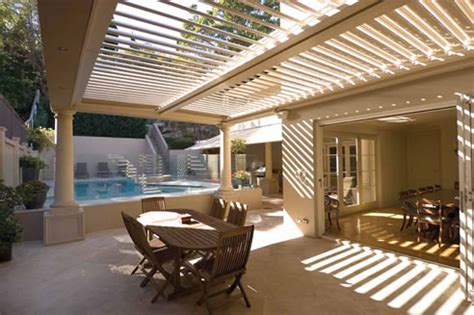 automatic pergola roof louvred pergola roof with automatic sensor vergola terrey nsw 2084
