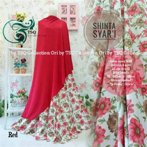 Shinta Syari Tosca by Gamis Cantik Shinta Syar I Motif Bunga Baju Muslim Terbaru