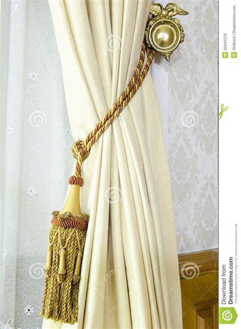 curtains decoration curtain tassel for interior decoration stock photo image