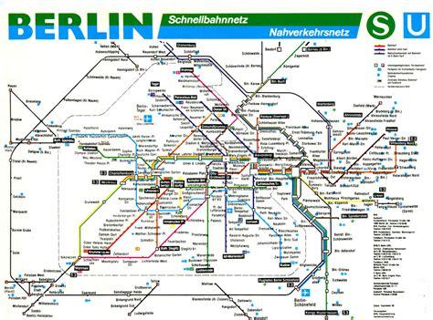 bahn map germany berlin s bahn and u bahn map 1998 a map of berlin s