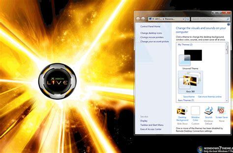 theme windows 7 xbox 360 xbox 360 windows 7 theme download