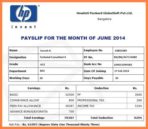 editable payslip template image collections templates