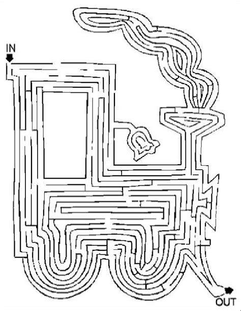 printable train maze train maze nuttin but preschool
