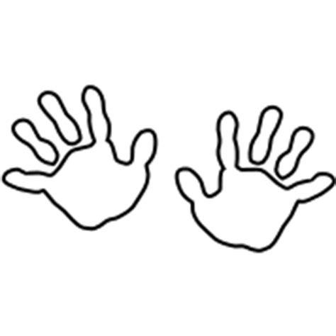 hand print outline clipart best