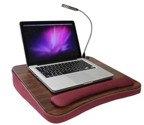 Laptop Desk With Light Memory Foam Lapdesk With Light Burgundy