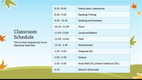 Free Elementary School Teacher Template For Powerpoint Online Free Powerpoint Templates Elementary School Class Schedule Template
