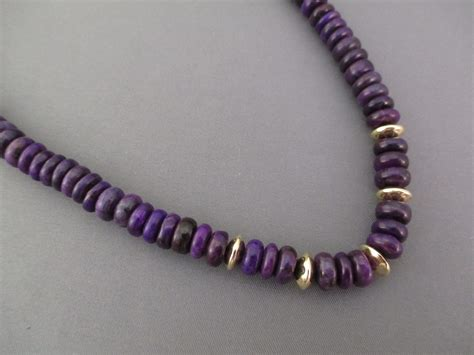 sugilite 14kt gold necklace american gold jewelry