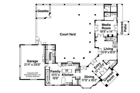 Mediterranean Style Floor Plans Mediterranean House Plans Veracruz 11 118 Associated