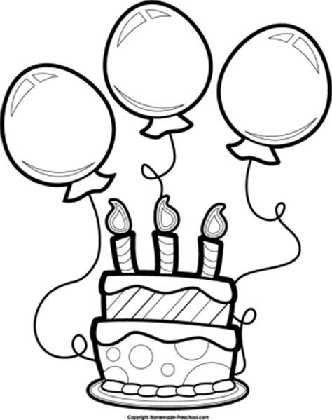 Birthday Cake Clipart Black And White happy birthday cake clipart black and white clipartsgram