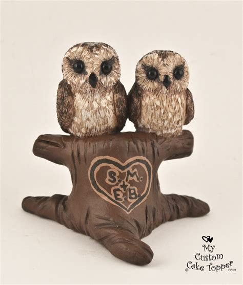 Places To Buy Wedding Cakes by Brown Owls In A Tree Wedding Cake Topper My Custom Cake
