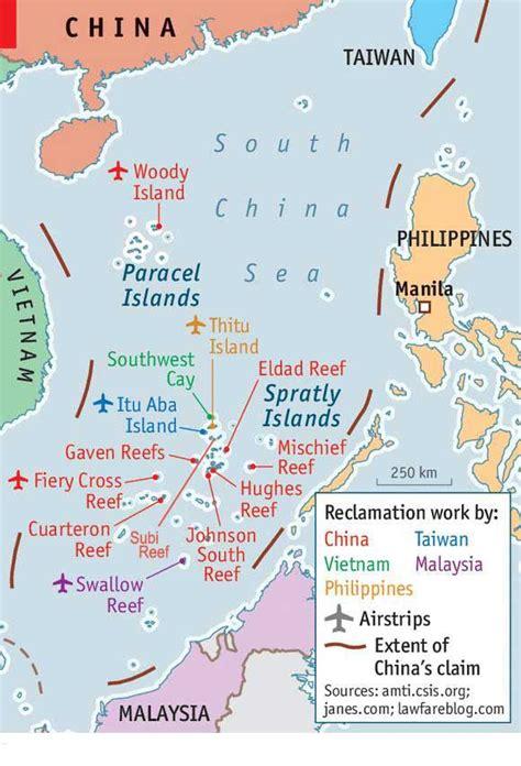 spratly islands map us vs bullying china china new world order