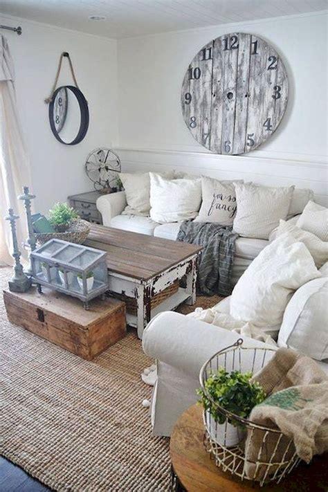 35 shabby chic farmhouse living room design ideas