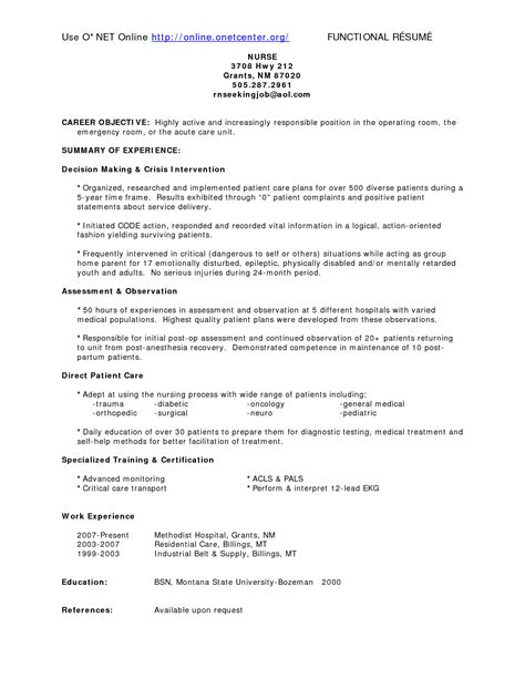 Resume Templates Operating Room emergency room resume resume badak