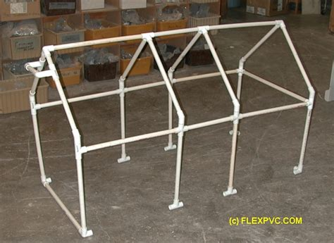 Pvc Pipe Shed 1 flexpvc 174 projects structures canopies ladders jumps beds chicken cages awning