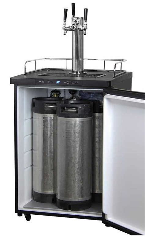 Small Home Bar With Kegerator Kegco Tap Digital Kegerator In Stainless Steel
