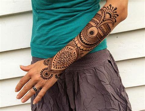 Henna sleeve tattoo designs image