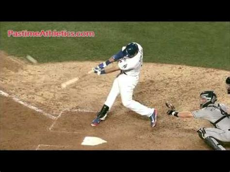 the perfect baseball swing in slow motion adrian gonzalez home run baseball swing slow motion