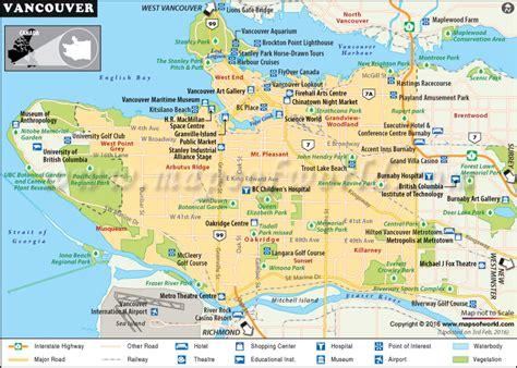 Printable Map Of Vancouver
