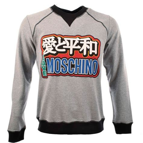 Moschino Sweatshirt moschino m641101 grey moschino sweatshirt moschino