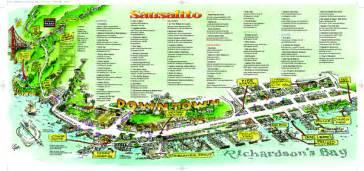 sausalito tourist map sausalito california mappery