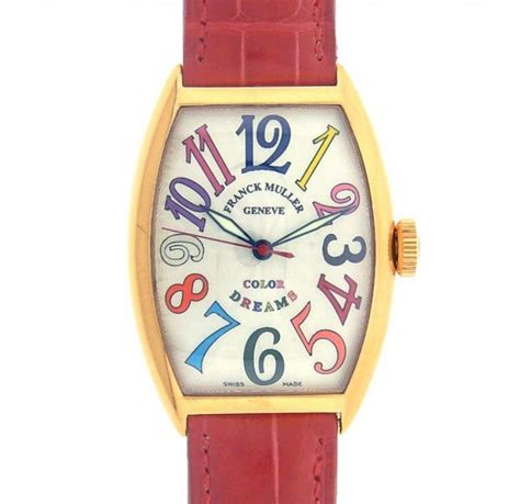 Franck Muller Color Dreams Rosegold Purple Leather franck muller color dreams 5850sc 18k gold