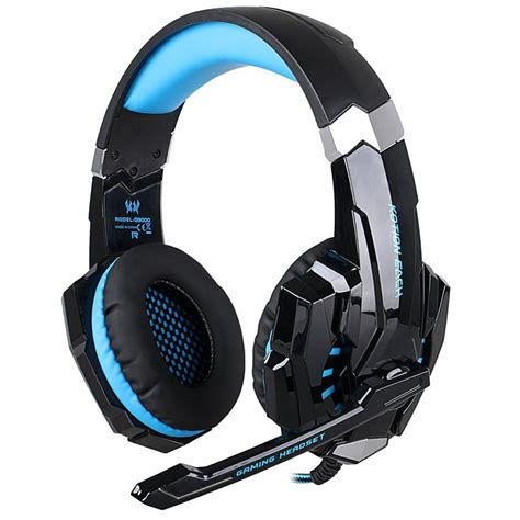 Headset Microphone Gaming each g9000 gaming headphones headband 3 5mm stereo headset with microphone led light for pc