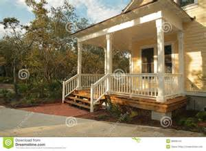 Shed Roof Screened Porch Front Porch Of Yellow House Stock Photos Image 38008143