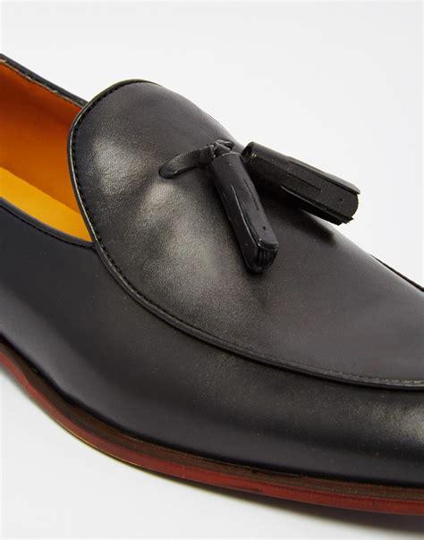 aldo loafers mens aldo miniera leather tassel loafers in black for lyst