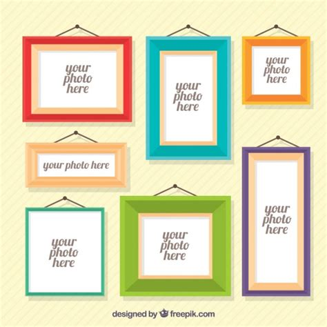 download layout frame various photo frames in flat design vector free download