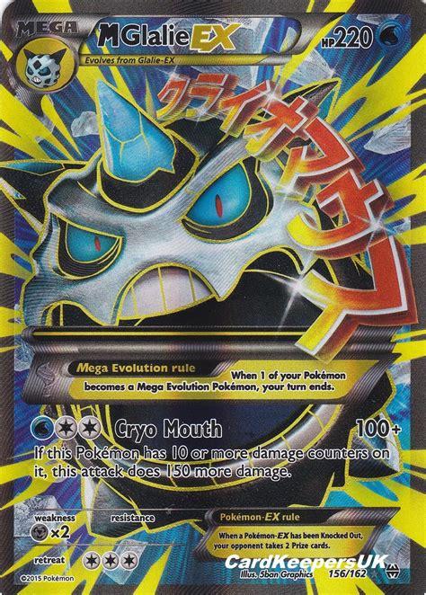 %name gift card sleeves   Pokemon Card Mega Glalie EX 156 162 Full Art   XY BreakThrough MINT   NEW